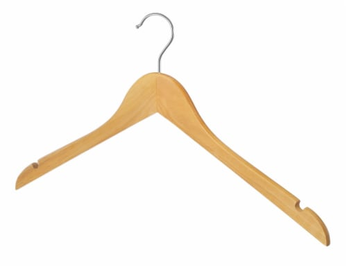 Whitmor Natural Wood Dress or Shirt Hangers Perspective: back