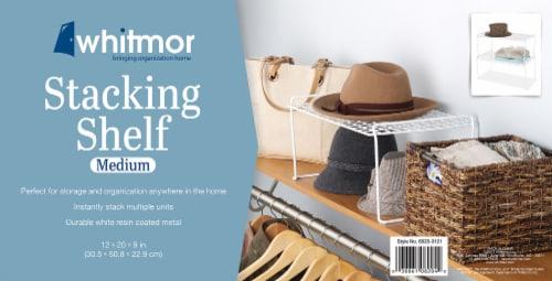 Whitmor Medium Stacking Shelf - White Perspective: back