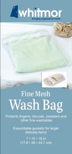 Whitmor Fine Mesh Wash Bag Perspective: back