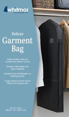 Whitmor Deluxe Garment Bag - Black Perspective: back