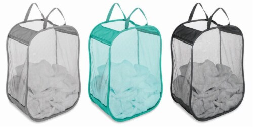 Whitmor Pop & Fold Laundry Bag - Assorted Perspective: back