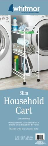 Whitmor Slim Household Cart - White Perspective: back