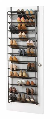 Whitmor Over-The-Door Hanging Shoe Rack - Gunmetal Perspective: back