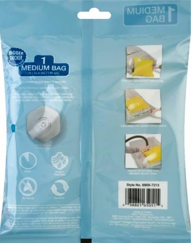 Whitmor Spacemaker™ Medium Vacuum Bag - Clear Perspective: back