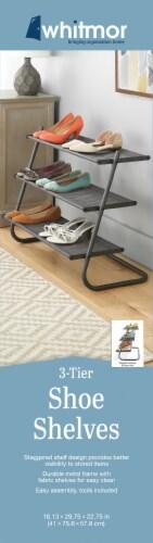 Whitmor 3-Tier Shoe Shelves - Gray Perspective: back