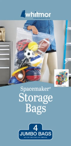 Whitmor Spacemaker™ Jumbo Storage Bag - Clear Perspective: back