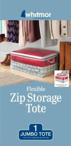 Whitmor Flexible Jumbo Storage Tote - Clear Perspective: back