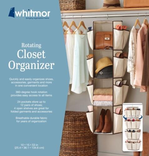 Whitmor Rotating Closet Organizer - Beige Perspective: back