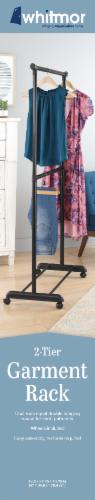 Whitmor 2-Rod Adjustable Garment Rack - Black/Silver Perspective: back