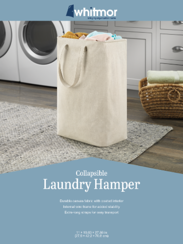 Whitmor Canvas Laundry Hamper Perspective: back