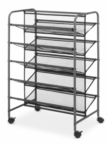 Whitmor 5-Tier Shoe Cart - Gray Perspective: back