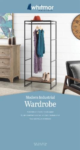 Whitmor Modern Industrial Wardrobe - Natural/Black Perspective: back