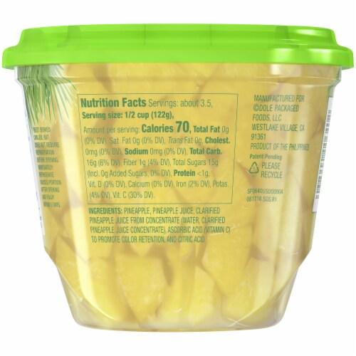 Dole Fridge Pack Pineapple Chunks in 100% Pineapple Juice Perspective: back