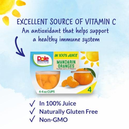 Dole® Mandarin Oranges in 100% Fruit Juice Cups Perspective: back