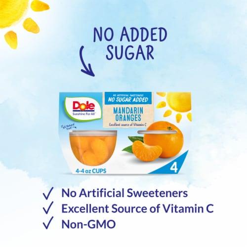 Dole® Mandarin Oranges No Sugar Added Fruit Cups Perspective: back