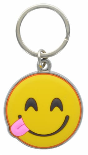 Hillman Metal Emojis Keychains - Assorted Perspective: back