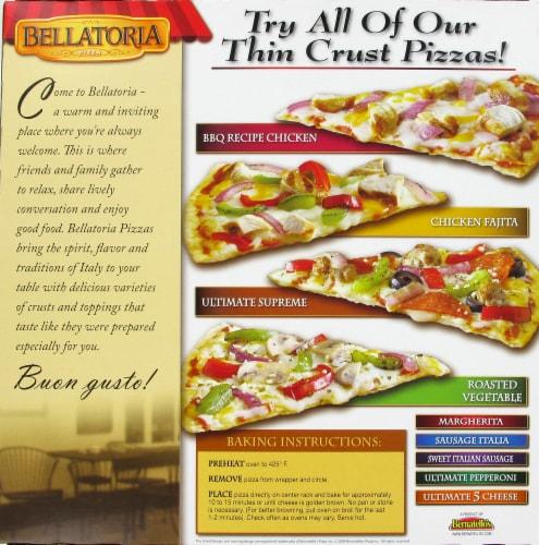 Bellatoria Ultra Thin Crust Garlic Chicken Alfredo Pizza Perspective: back