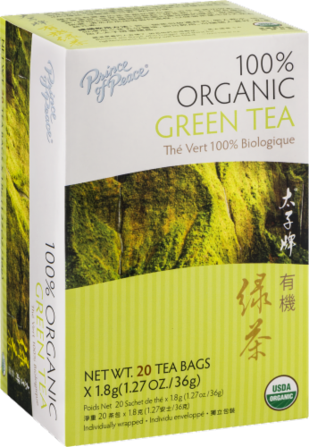Prince of Peace 100% Organic Green Tea Bags Perspective: back