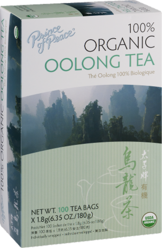 Prince of Peace 100% Organic Oolong Tea Bags Perspective: back