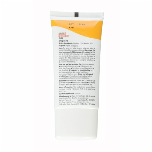 Tiger Balm Neck & Shoulder Rub Pain Relieving Cream Perspective: back