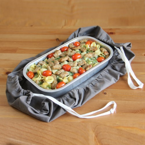 Grand Fusion 2 in 1 Casserole Caddy and Dish Towel Perspective: back