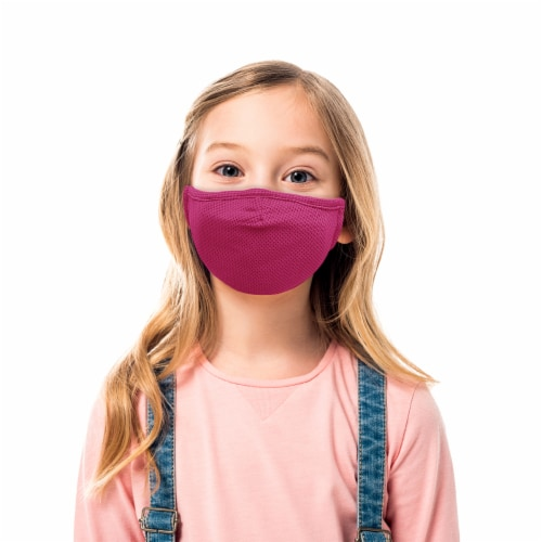 Grand Fusion Child Protective Face Mask & Filter 1 Pack Pink Perspective: back