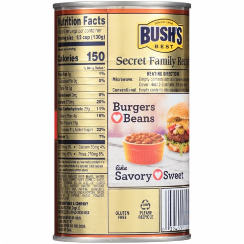 Bush's Best Homestyle Baked Beans Perspective: back
