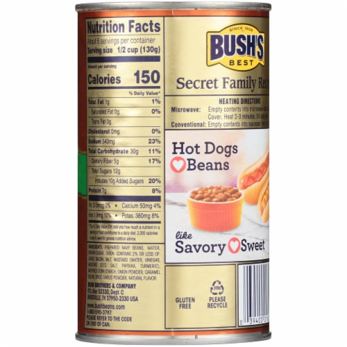Bush's Best Baked Beans with Onion Perspective: back