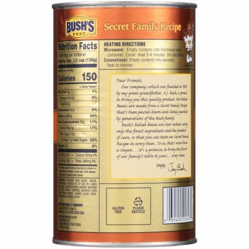 Bush's Best Original Baked Beans Perspective: back