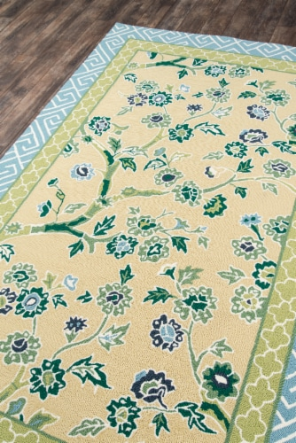 """Madcap Cottage Under A Loggia UND-5 Yellow Blossom Dearie 3'9"""" X 5'9"""" Rug Perspective: back"""