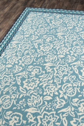 Madcap Cottage Under A Loggia UND-2 Blue Rokeby Road 5' X 8' Rug Perspective: back