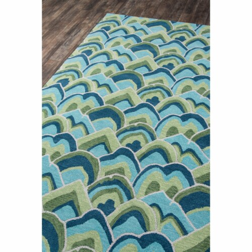 Madcap Cottage Embrace Adventure EMB-1 Green Cloud Club 2' X 3' Rug Perspective: back