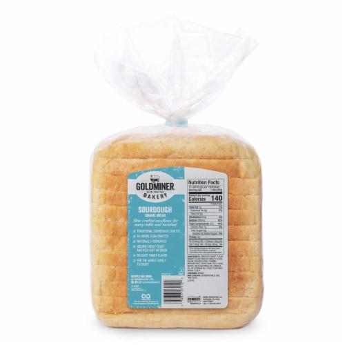 California Goldminer Sourdough Square Bread Perspective: back