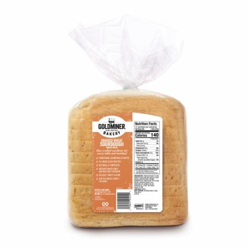 California Goldminer Cracked Wheat Square Sourdough Bread Perspective: back