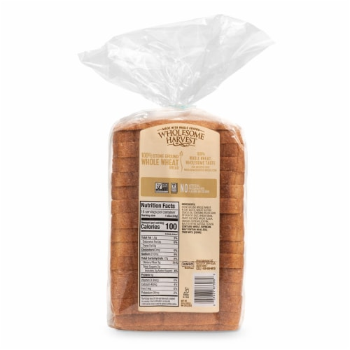 Wholesome Harvest Whole Wheat Sliced Sandwich Bread Perspective: back