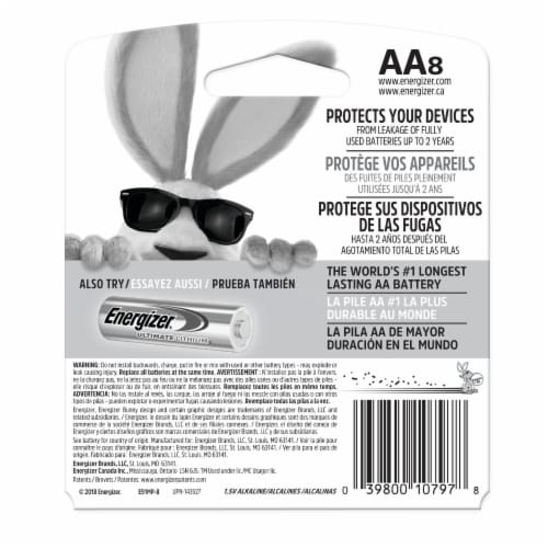 Energizer® Max AA Alkaline Batteries Perspective: back