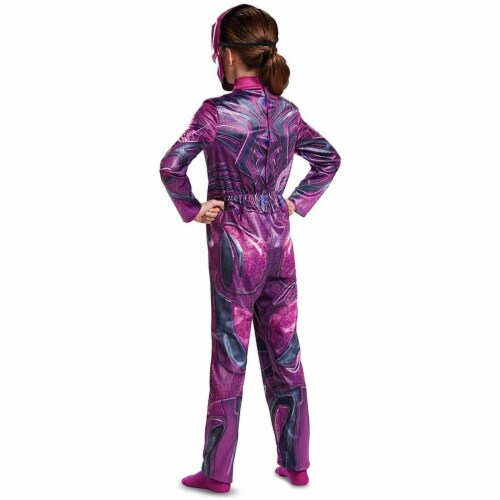 Disguise  Power Ranger Movie Classic Costume, Pink, Large (10-12) Perspective: back