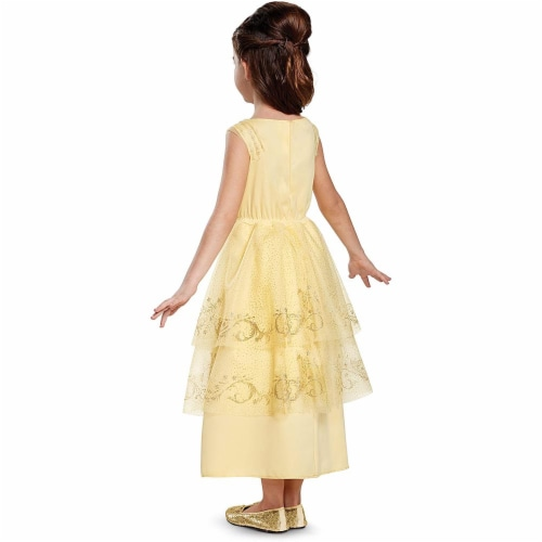 Disguise Belle Ball Gown Classic Movie Costume, Yellow, Small (4-6X) Perspective: back