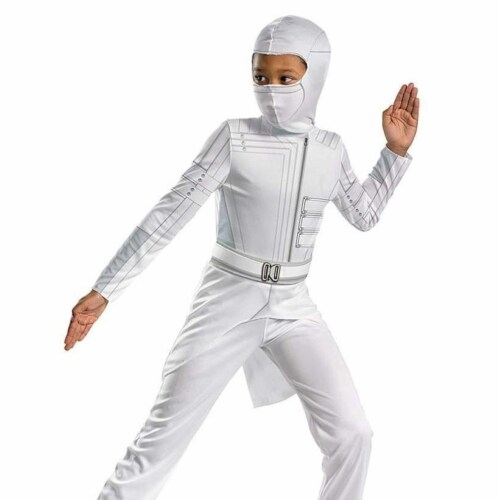 GI Joe Storm Shadow Classic Costume size S 4/6 Kids Outfit Coat Jumpsuit Disguise Perspective: back