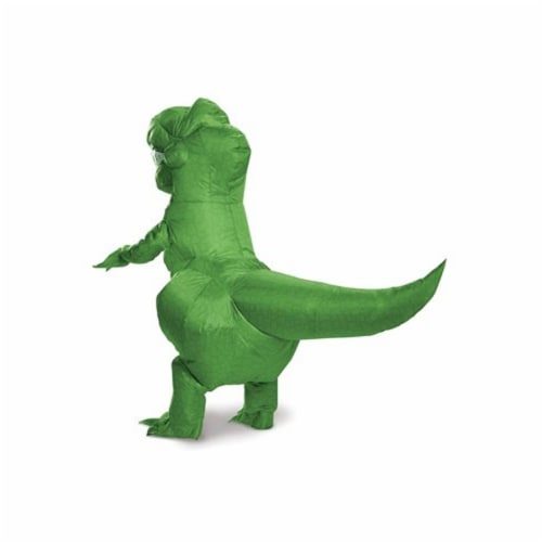 Toy Story 4 Rex Inflatable Child Costume Green, Child One Size Perspective: back