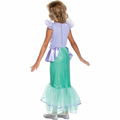 Disney Princess Ariel Classic Girls' Costume, Teal (4-6X) Perspective: back