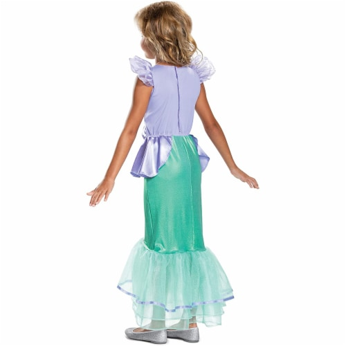 Disney Princess Ariel Classic Girls' Costume, Teal (3T-4T) Perspective: back