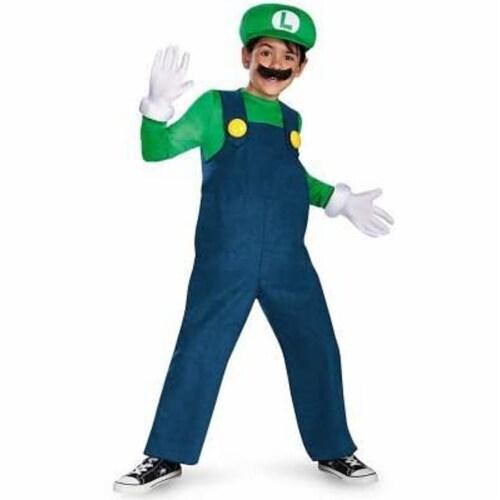 Disguise Nintendo Super Mario Brothers Luigi Classic Boys Costume, Medium/7-8 Perspective: back