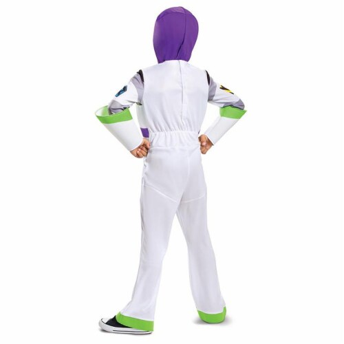 Buzz Lightyear Classic Toy Story 4 Child Costume White (4-6) Perspective: back