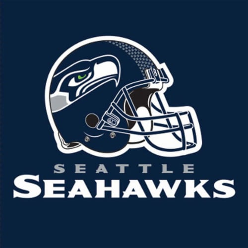 Seattle Seahawks Paper Dinner Plate - 8 Pack Perspective: back
