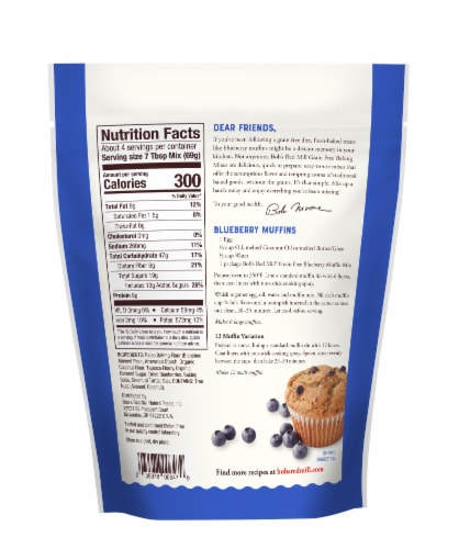 Bob's Red Mill Grain Free Blueberry Muffin Mix Perspective: back