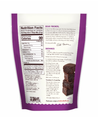 Bob's Red Mill Grain Free Brownie Mix Perspective: back