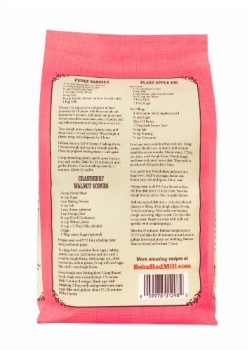Bob's Red Mill Unbleached White Fine Pastry Flour Perspective: back