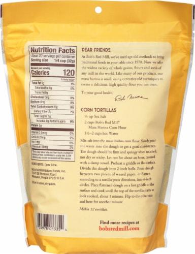 Bob's Red Mill Golden Corn Flour Masa Harina Perspective: back