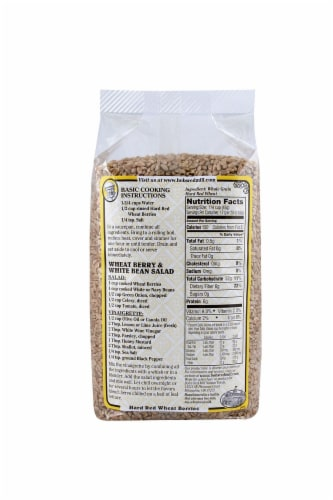 Bob's Red Mill Hard Red Wheat Berries Perspective: back